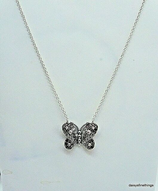 pandora butterfly necklace