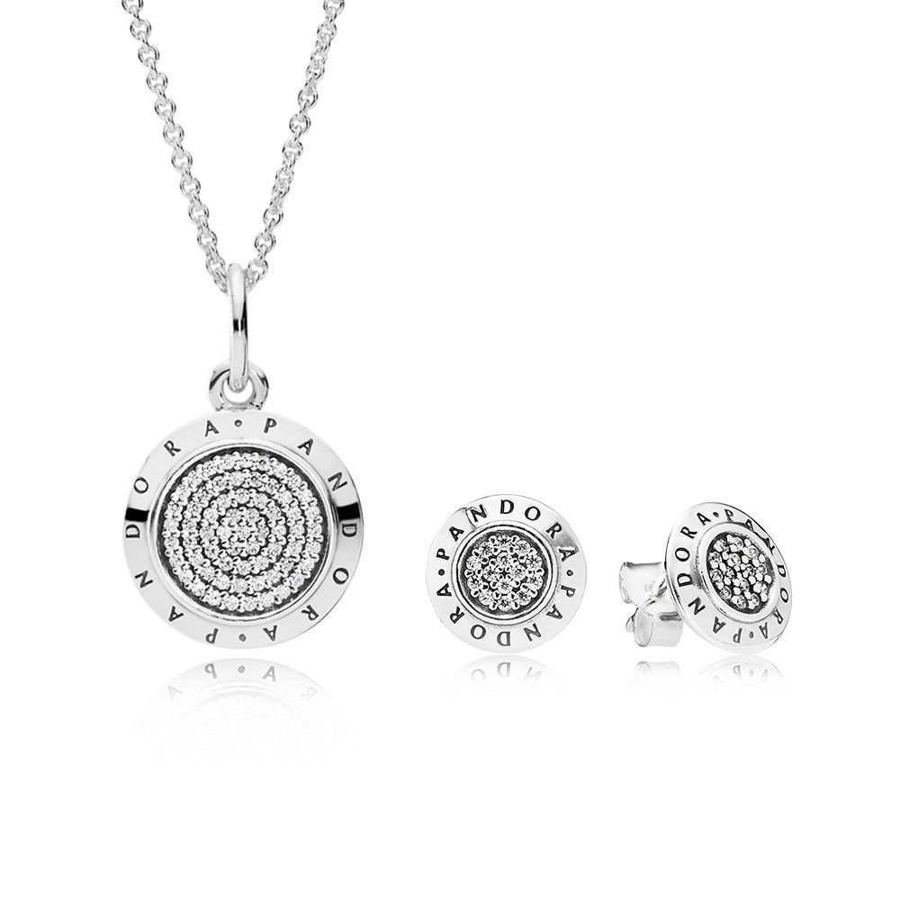 pandora necklace and earring set