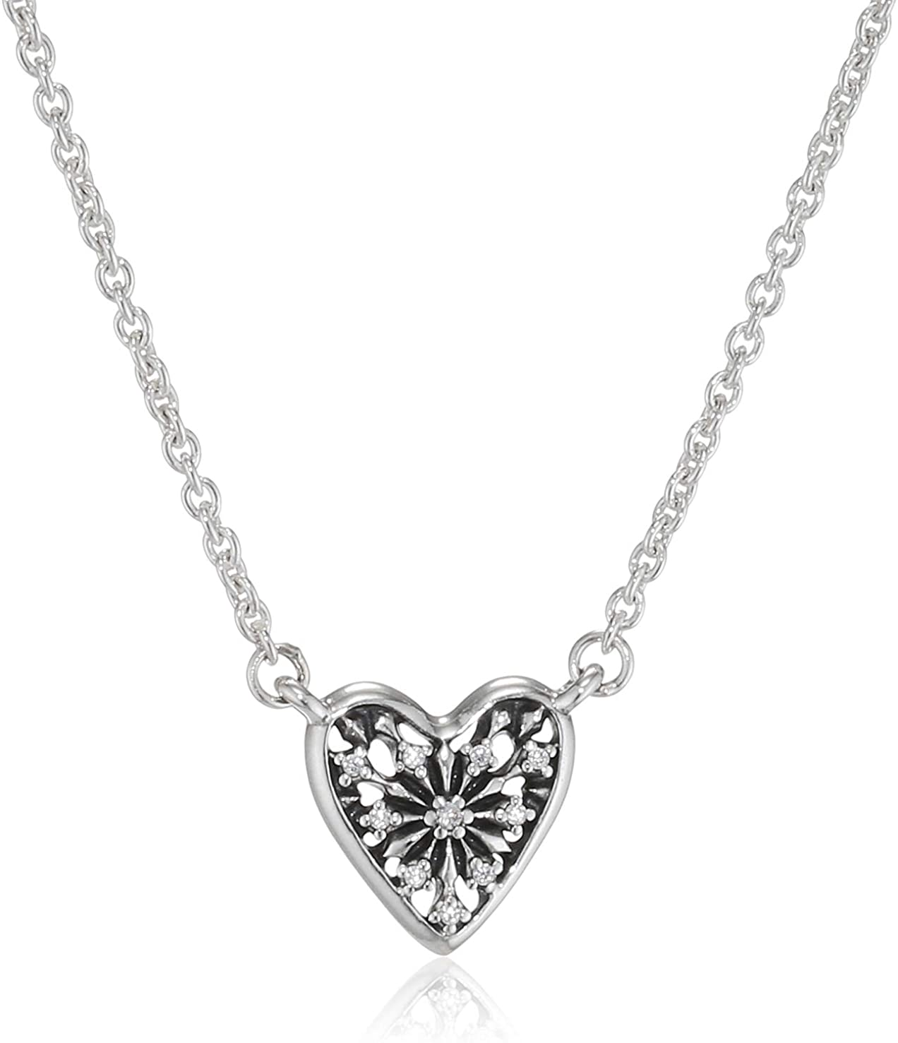 pandora necklace with heart